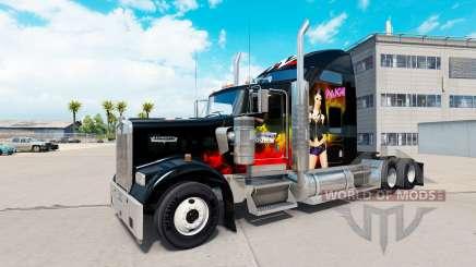 Скин WWE на тягач Kenworth W900 для American Truck Simulator