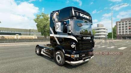 Скин V8 на тягач Scania для Euro Truck Simulator 2
