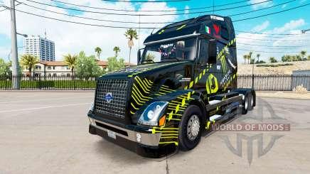 Скин Monster Energy на тягач Volvo VNL 670 для American Truck Simulator