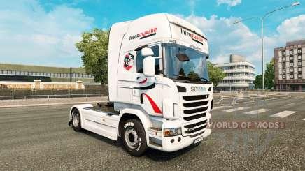 Скин Intermarche на тягач Scania для Euro Truck Simulator 2