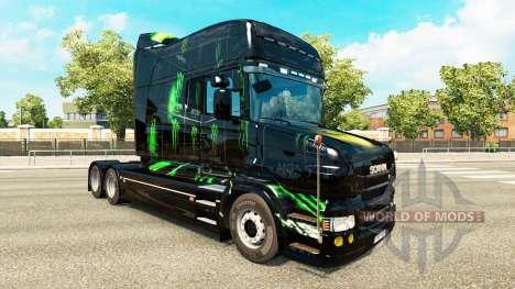 Скин Monster Energy на тягач Scania T для Euro Truck Simulator 2