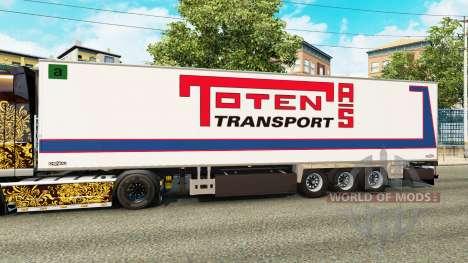 Полуприцеп-рефрижератор Chereau Toten Transport для Euro Truck Simulator 2