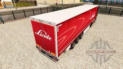 Скин Linde на шторный полуприцеп для Euro Truck Simulator 2