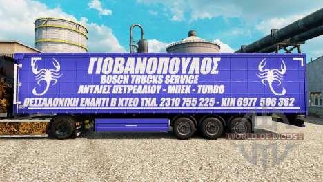 Скин Bosch Trucks Service на полуприцепы для Euro Truck Simulator 2