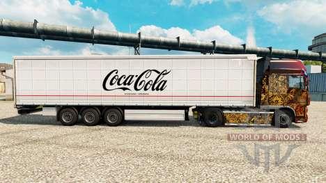 Скин Coca-Cola на полуприцепы для Euro Truck Simulator 2