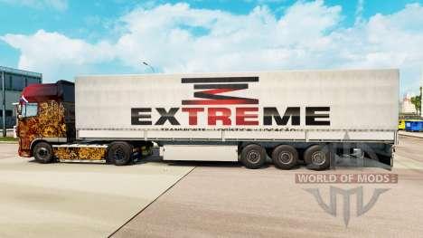 Скин Extreme на полуприцепы для Euro Truck Simulator 2