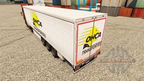 Скин Onca Transportes на полуприцепы для Euro Truck Simulator 2