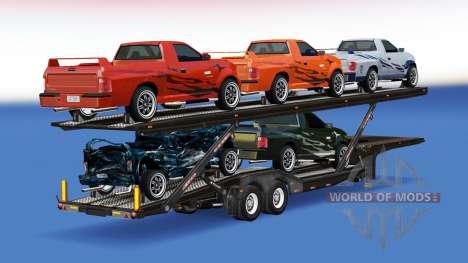 Автовоз с автомобилями из FlatOut 2 для American Truck Simulator