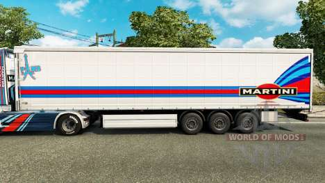 Скин Martini Rancing на полуприцепы для Euro Truck Simulator 2