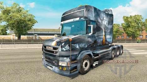Скин Dragon v2 на тягач Scania T для Euro Truck Simulator 2
