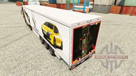 Скин Renault F1 Team на полуприцепы для Euro Truck Simulator 2