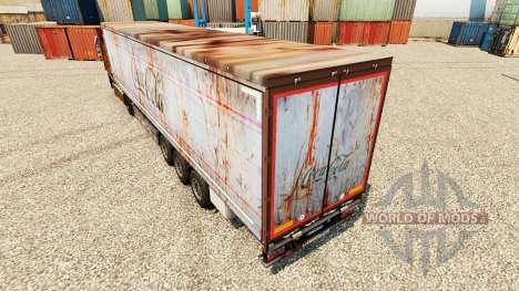 Скин Coca-Cola rusty на полуприцепы для Euro Truck Simulator 2