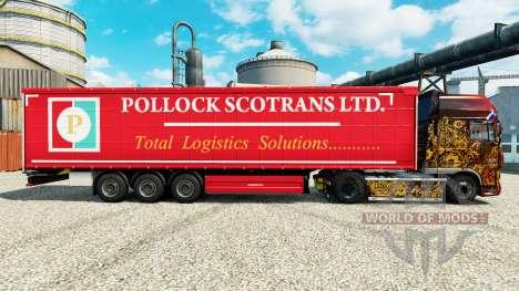 Скин Pollock Scotrans Ltd. на полуприцепы для Euro Truck Simulator 2