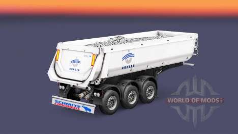 Полуприцеп-самосвал Schmitz Cargobull Buhler для Euro Truck Simulator 2