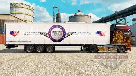 Скин American Truck Promotion на полуприцепы для Euro Truck Simulator 2