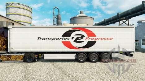 Скин Transportes Progresso на полуприцепы для Euro Truck Simulator 2
