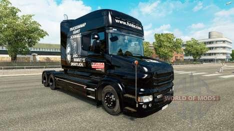 Скин Fulda на тягач Scania T для Euro Truck Simulator 2