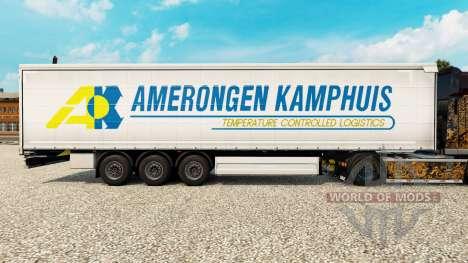 Скин Amerongen Kamphuis на шторный полуприцеп для Euro Truck Simulator 2