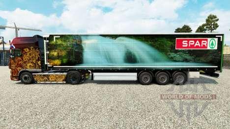 Скин Spar Natur Pur на шторный полуприцеп для Euro Truck Simulator 2