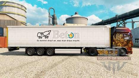 Скин Beton на полуприцепы для Euro Truck Simulator 2