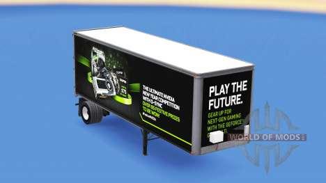 Скин NVidia GTX 980 Ti на полуприцеп для American Truck Simulator