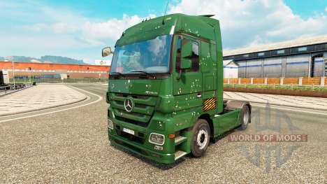 Скин Bullets Holes на тягач Mercedes-Benz для Euro Truck Simulator 2