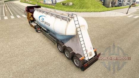 Скин Brass Transport на цементный полуприцеп для Euro Truck Simulator 2