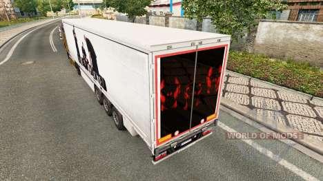 Скин BUG Mafia на полуприцепы для Euro Truck Simulator 2