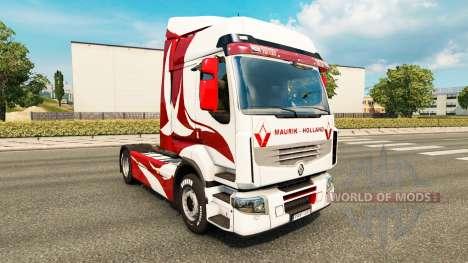 Скин Metallic на тягач Renault для Euro Truck Simulator 2