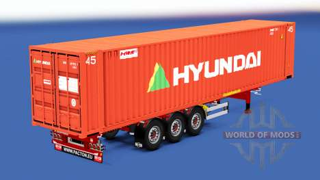 Полуприцеп-контейнеровоз с различными грузами для American Truck Simulator