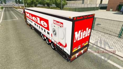 Шторный полуприцеп Miele для Euro Truck Simulator 2