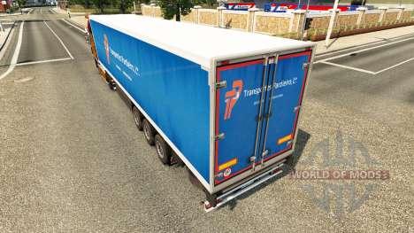 Скин Transportes Pardieiro Lda на полуприцепы для Euro Truck Simulator 2