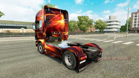 Скин Fire Effect на тягач Scania для Euro Truck Simulator 2