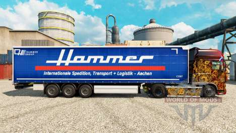 Скин Hammer Group на полуприцепы для Euro Truck Simulator 2
