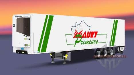 Полуприцеп-рефрижератор Lamberet Maury Primeurs для Euro Truck Simulator 2