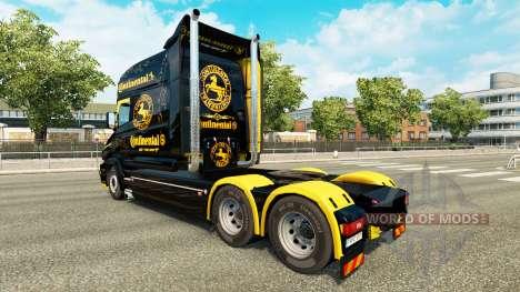Скин Continental на тягач Scania T для Euro Truck Simulator 2