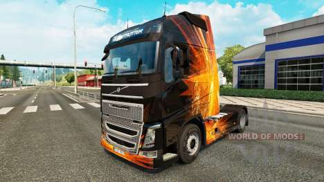 Скин Cubical Flare на тягач Volvo для Euro Truck Simulator 2