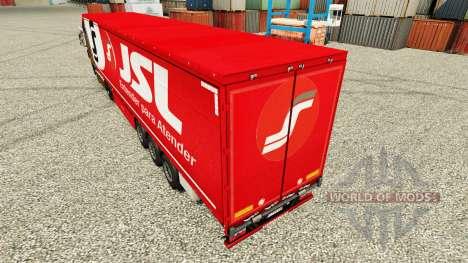 Скин JSL на полуприцепы для Euro Truck Simulator 2