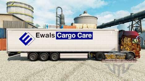 Скин Ewals Cargo Care на полуприцепы для Euro Truck Simulator 2