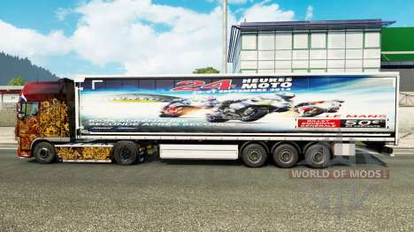 Скин 24heures du mans MOTO на полуприцепы для Euro Truck Simulator 2