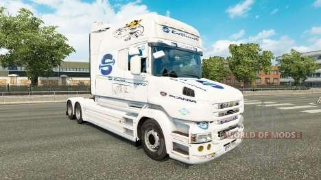 Скин SovTransAuto на тягач Scania T для Euro Truck Simulator 2