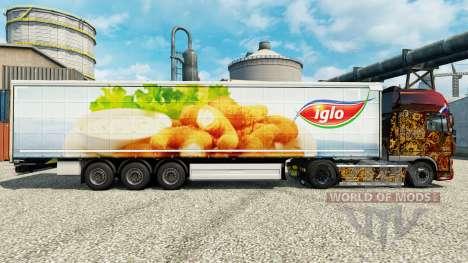 Скин Iglo на полуприцепы для Euro Truck Simulator 2