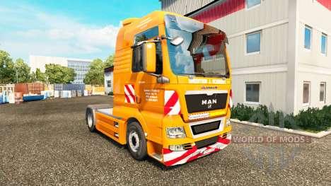 Скин J. Eckhardt Spedition v1.8 на тягач MAN для Euro Truck Simulator 2