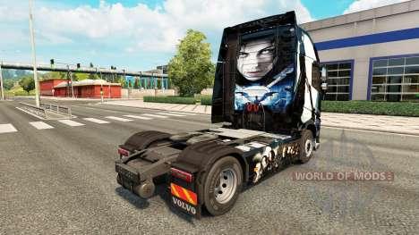 Скин Underworld на тягач Volvo для Euro Truck Simulator 2