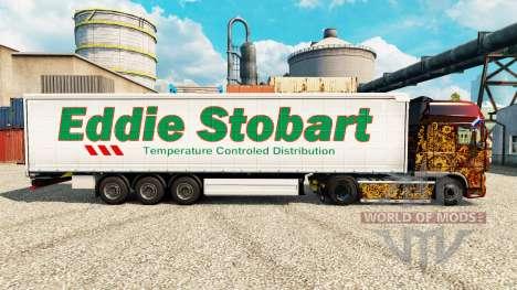 Скин Eddie Stobart на полуприцепы для Euro Truck Simulator 2