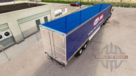Скин Kraft Heinz на удлинённый полуприцеп для American Truck Simulator