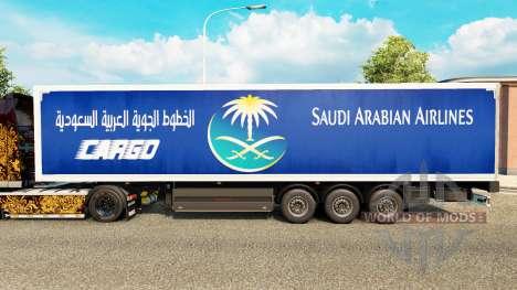 Скин Saudi Arabian Airlines на полуприцепы для Euro Truck Simulator 2