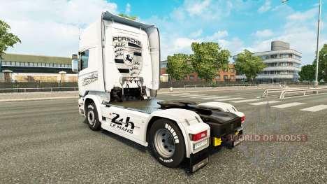 Скин Porsche на тягач Scania для Euro Truck Simulator 2