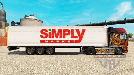 Скин Simply Market на полуприцепы для Euro Truck Simulator 2