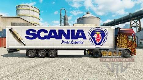 Скин Scania Parts Logistics на полуприцепы для Euro Truck Simulator 2